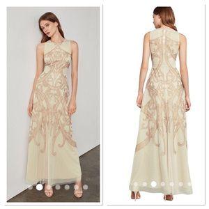 BCBGMAXAZRIA Acotas Lace applique Gown Maxi Dress